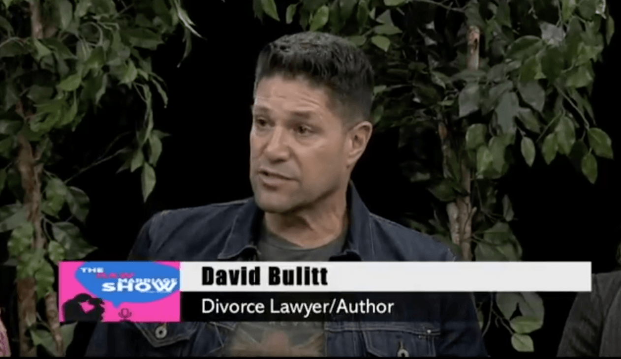 LAWYER/AUTHOR DAVID BULITT TALKS MONEY AND DIVORCE